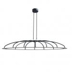 Hanglamp Dante ovaal 150cm zwart LED dim to warm