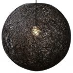 Hanglamp touwbol Abaca 60cm Zwart