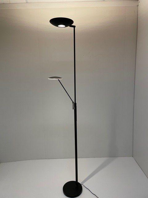 Vloerlamp Uplight Geneva 30W 6W Led Zwart met leesarm en dimmer