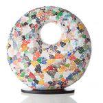 Tafellamp Donut 45cm Glass Multi Color