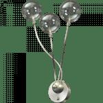 Wandlamp Molto 3 lichts nikkel LED dim to warm