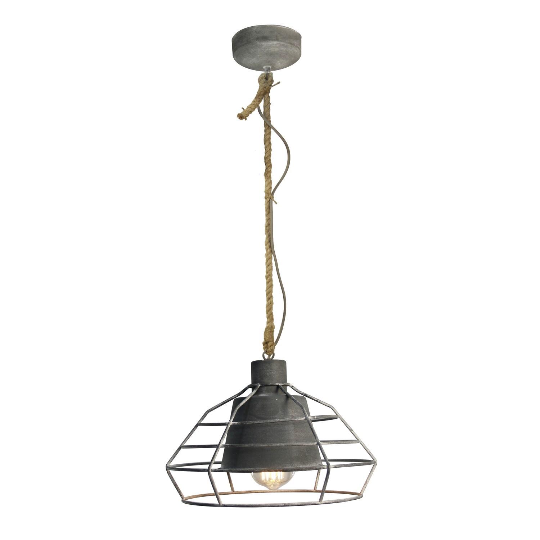 Hanglamp Met Touw.Walter Hanglamp Betongrijs Touw Lampenhuis