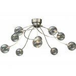 Plafondlamp Molto 3 nikkel 10 lichts LED dim to warm