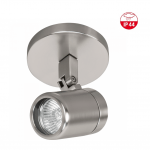 Badkamerspot 1 lichts ip44 nikkel mat