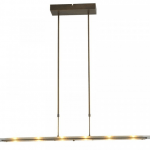 Hanglamp Vigo bronze clear glass 100cm dim to warm