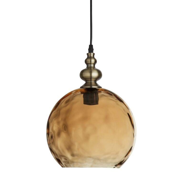 Hanglamp Indiana amber glas 30 cm