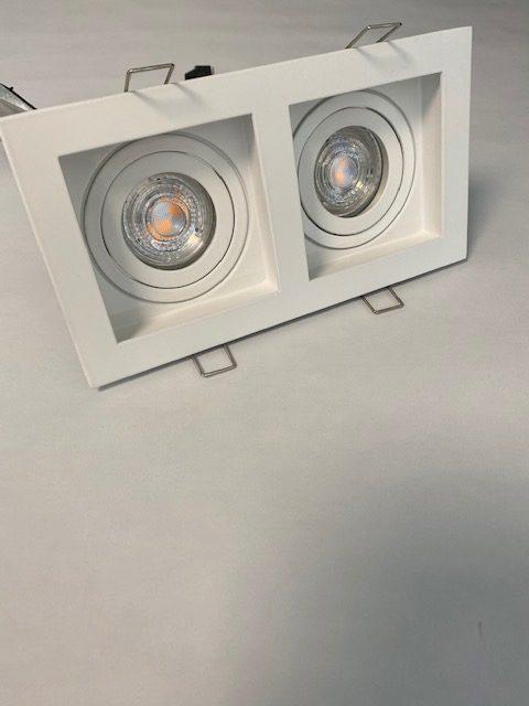 Wit Inbouwspot Carrè met 2 spots