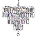 Hanglamp Empire 5-lichts met helder kristal