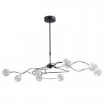 Hanglamp Gio zwart 8 lichts LED dim to warm