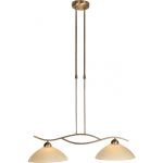 Hanglamp Capri brons 2-lichts Glas