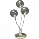 Tafellamp Molto nikkel 3 lichts LED dim to warm