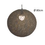 Hanglamp touwbol Abaca 80cm grijs