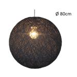 Hanglamp touwbol Abaca 80cm zwart