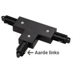 1-Fase Rail T-Connector Links zwart