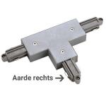1-Fase Rail T-Connector Rechts grijs