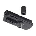 1-Fase Rail Pendeladapter zwart