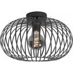 Plafondlamp Bolato zwart 40 cm