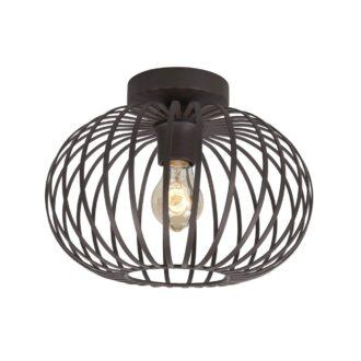 Plafondlamp Bolato bruin 30 cm