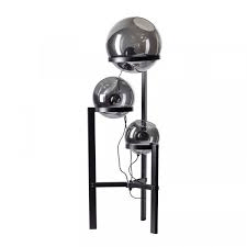 Vloerlamp Orb 3 lichts smoke