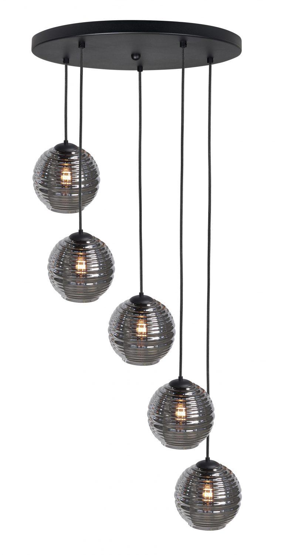 Hanglamp/ Vide lamp Fantasy Globe 5 lichts