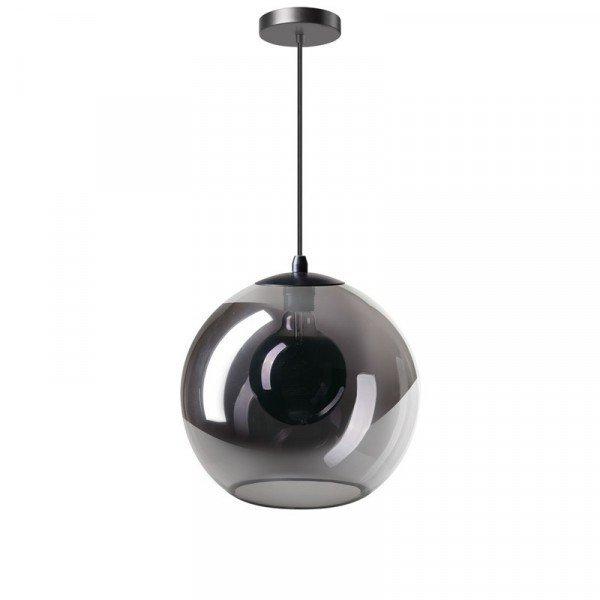 Hanglamp orb 30 cm smoke