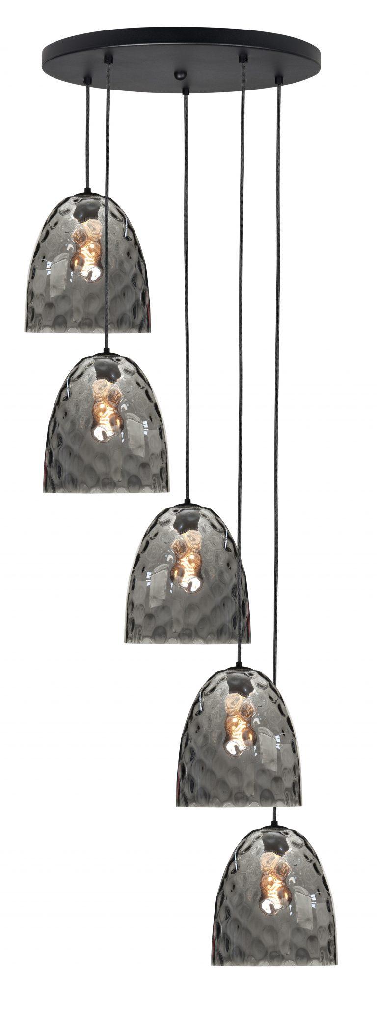 Hanglamp/vide lamp Bubbles 5-lichts