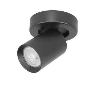 Spot oliver 1 lichts zwart