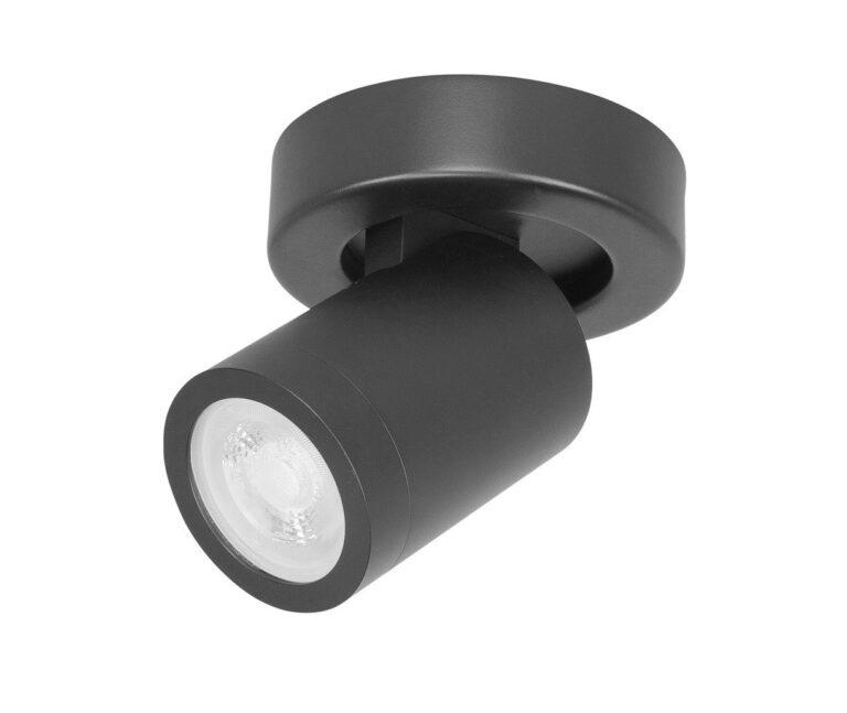 Spot oliver 1 lichts zwart ip44