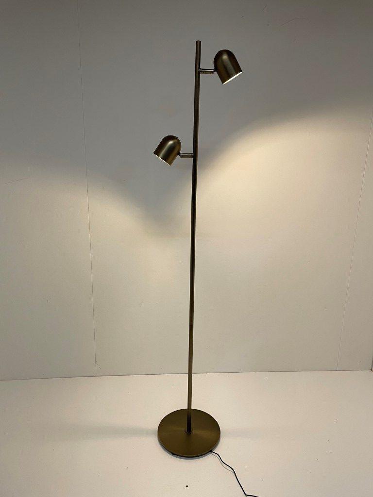 Vloerlamp ovale brons LED