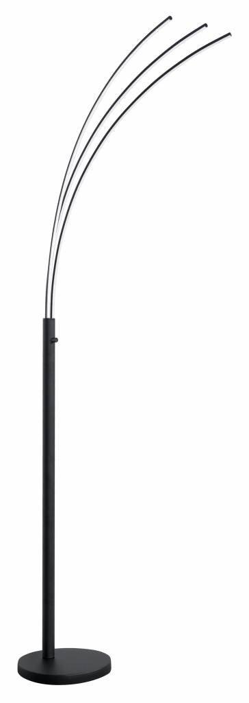 Vloerlamp Arch zwart LED
