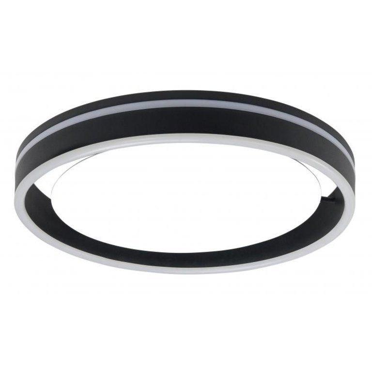 Plafondlamp Double Round zwart LED