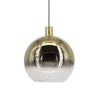 Hanglamp ball 30 cm goud/helder