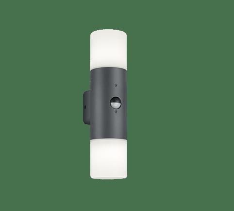 Buitenlamp Hoosic wand dubbel met sensor