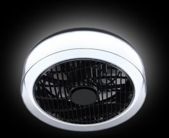 Fan no. 5 Plafonnière met ventilator 40cm heldere rand met witte binnenkant