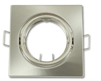 Inbouwspot van plat staal en kantelbaar