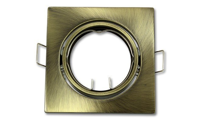 Brons vierkante inbouwspot en kantelbaar
