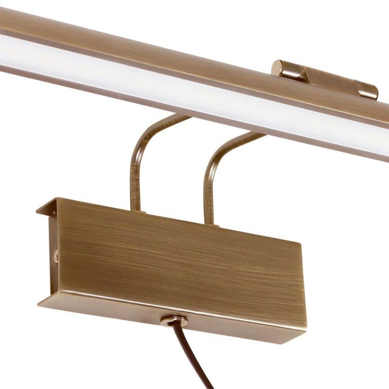 Vooraanzicht wandlamp Schilderij Litho LED brons