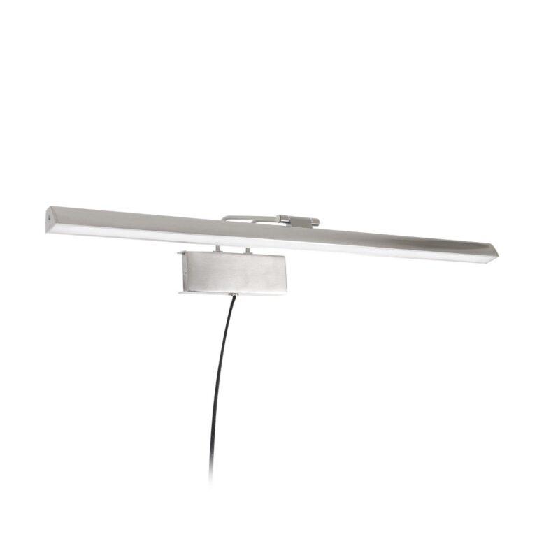 Mooie zilveren wandlamp Schilderij Litho LED staal