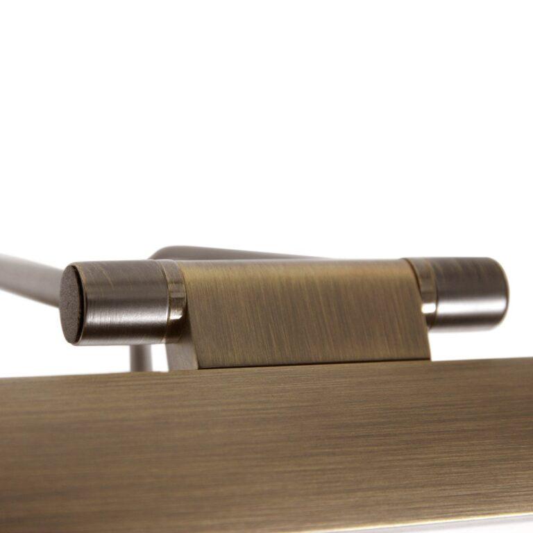 Scharnier van de wandlamp schilderij 32 cm LED Litho brons