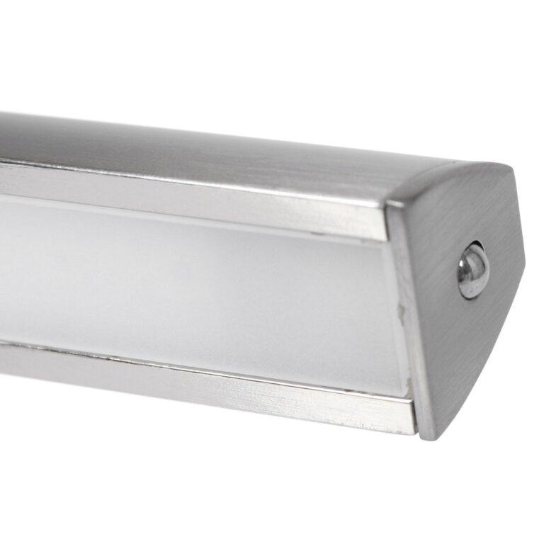 Ingezoomde afbeelding van de stalen wandlamp schilderij Litho LED