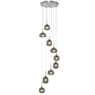 Videlamp Bollique 9 lichts van staal
