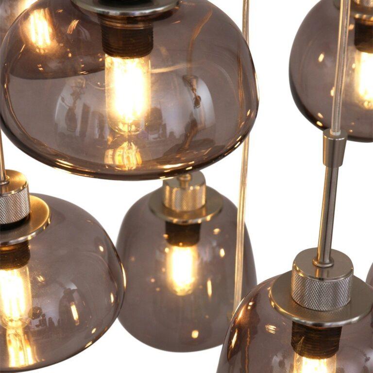 Ingezoomde afbeelding hanglamp Bolligue van staal