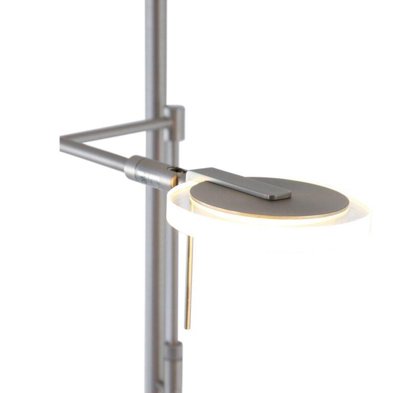 Vloerlamp Turound LED staal met helder glas