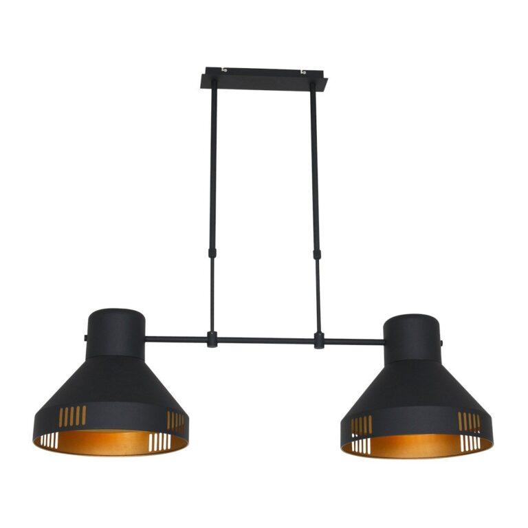 Hanglamp Evy zwart bestaande uit 2 kappen