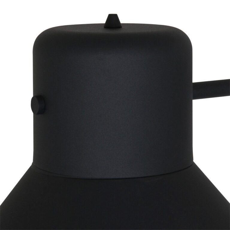 Afbeelding van bovenkant van de kap hanglamp Evy zwart