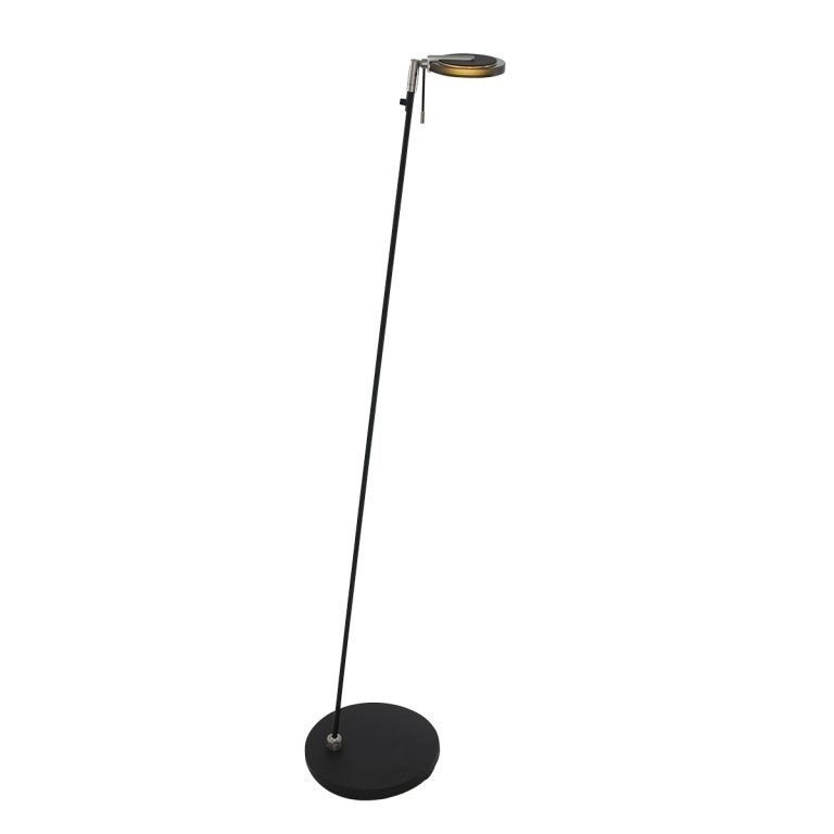 Leeslamp Turound LED zwart met rookglas