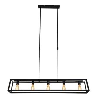 Hanglamp Buckley 5 lichts zwart