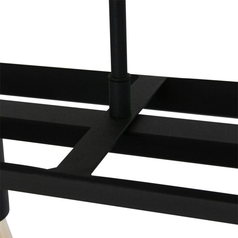 afbeelding van de constructie van de hanglamp Buckley 5 lichts zwart