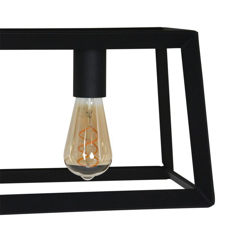 Ingezoomde afbeelding op lamp van de Hanglamp Buckley 5 lichts zwart