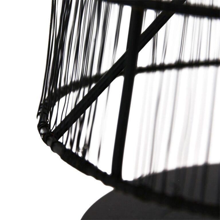 Ingezoomde op de kap van de trendy tafellamp uit de Gaze serie